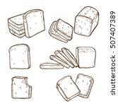 bakery elements  bakery... | Shutterstock .eps vector #507407389