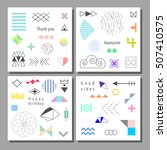 set of artistic colorful... | Shutterstock .eps vector #507410575