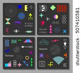set of artistic colorful... | Shutterstock .eps vector #507410581