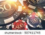 casino chips gambling concept...