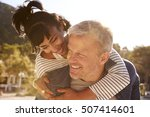 happy middle aged couple... | Shutterstock . vector #507414601