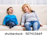 mother and son are spending... | Shutterstock . vector #507415669