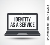 identity as a service text on... | Shutterstock .eps vector #507416215