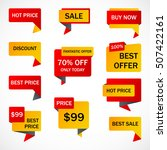 vector stickers  price tag ... | Shutterstock .eps vector #507422161