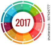 2017 calendar  print template... | Shutterstock .eps vector #507424777