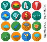 weather set icons in flat style.... | Shutterstock .eps vector #507425821
