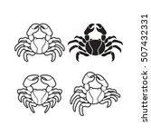 outline crabs vector drawing | Shutterstock .eps vector #507432331