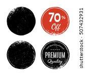 circle grunge background set ... | Shutterstock .eps vector #507432931