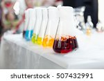 Test Tubes With Colorful...