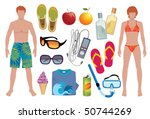 infinite summer | Shutterstock .eps vector #50744269