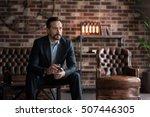 thoughtful handsome man... | Shutterstock . vector #507446305