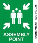 emergency evacuation assembly... | Shutterstock .eps vector #507448225