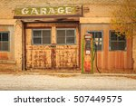 old garage in rural utah  usa. | Shutterstock . vector #507449575