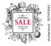christmas sale banner. vector... | Shutterstock .eps vector #507453061