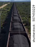 Small photo of The Sishen to Saldanha iron ore train. The train can be up to 6 km long.