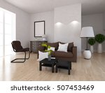 white room with sofa. living... | Shutterstock . vector #507453469