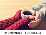 a couple in love warming hands... | Shutterstock . vector #507456601