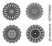 black ornament or mandala... | Shutterstock . vector #507456865