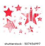 vector set of christmas stars.... | Shutterstock .eps vector #507456997