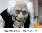 halloween mask of standing old... | Shutterstock . vector #507461371