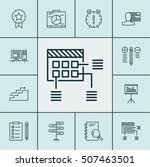set of project management icons ... | Shutterstock .eps vector #507463501