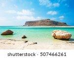 beautiful balos lagoon in crete ... | Shutterstock . vector #507466261