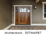 front dark brown door that is... | Shutterstock . vector #507466987