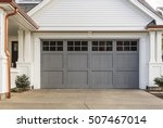 gray garage door that is closed | Shutterstock . vector #507467014
