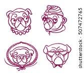 pugs   characters | Shutterstock .eps vector #507472765