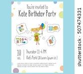 vector template for birthday... | Shutterstock .eps vector #507474331