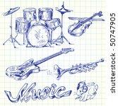 music doodles | Shutterstock .eps vector #50747905