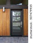 front black door that is closed | Shutterstock . vector #507479935