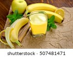 banana smoothie  juice  and... | Shutterstock . vector #507481471