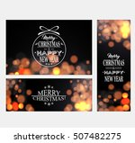 christmas and new year banners... | Shutterstock .eps vector #507482275