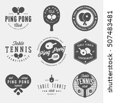 Vector Set Of Ping Pong Logos ...