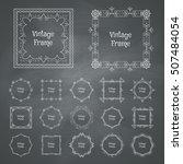 vintage frames set. vector...   Shutterstock .eps vector #507484054