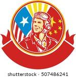 illustration of a world war two ...   Shutterstock . vector #507486241
