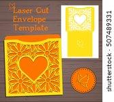 lasercut vector wedding... | Shutterstock .eps vector #507489331