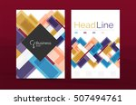 set of abstract lines... | Shutterstock . vector #507494761