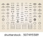 vintage borders  frame and... | Shutterstock .eps vector #507495589