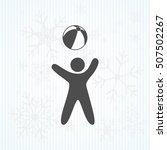 child plays ball   Shutterstock .eps vector #507502267