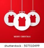christmas paper card with... | Shutterstock .eps vector #507510499