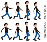animation man walking