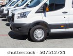 number of new white minibuses... | Shutterstock . vector #507512731