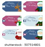 set of christmas new year... | Shutterstock . vector #507514801