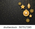festive christmas background... | Shutterstock .eps vector #507517285