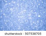 abstract blue christmas... | Shutterstock . vector #507538705
