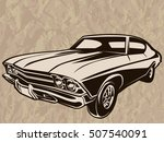 retro muscle car vector... | Shutterstock .eps vector #507540091