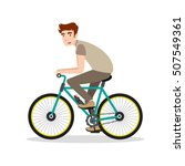 man riding a bike | Shutterstock .eps vector #507549361