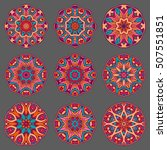 mandala sign collection. round... | Shutterstock . vector #507551851
